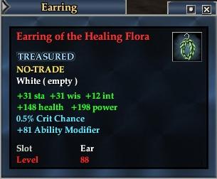 Earring of the Healing Flora
