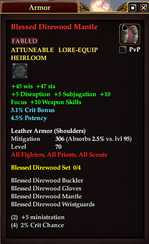 Blessed Direwood Mantle (Version 1)