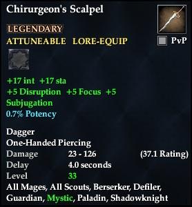 Chirurgeon's Scalpel