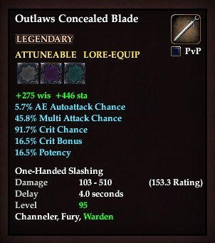Outlaws Concealed Blade