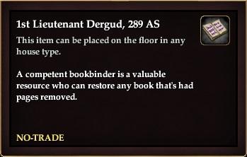 1st Lieutenant Dergud, 289 AS (House Item)