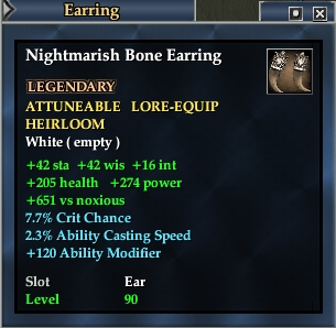 Nightmarish Bone Earring