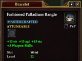 Fashioned Palladium Bangle (Crafted)