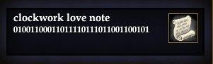 Clockwork love note