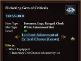 Flickering Gem of Criticals