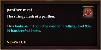 Panther meat