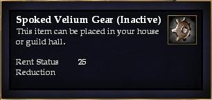 Spoked Velium Gear (Inactive)