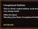Unexplained Emblem