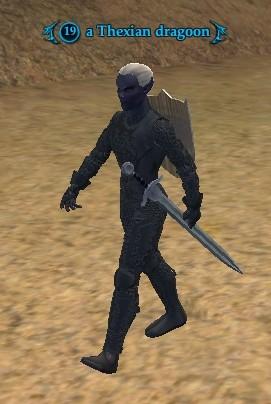 A Thexian dragoon (Commonlands)