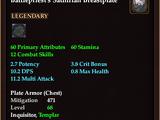 Battlepriest's Sathirian Breastplate (Level 68)
