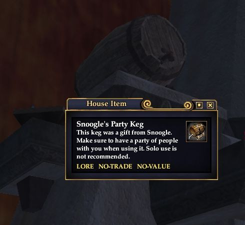 Snoogle's Party Keg