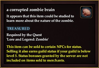 A corrupted zombie brain