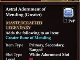 Astral Adornment of Mending (Greater) (Crafted)