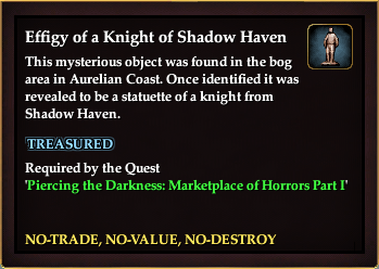 Effigy of a Knight of Shadow Haven (Marketplace of Horrors Part I)