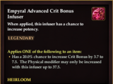 Empyral Advanced Crit Bonus Infuser