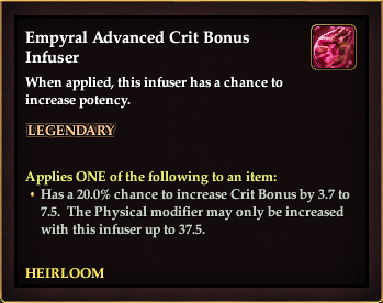 Empyral Advanced Crit Bonus Infuser