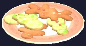 A plate of Frostfell shaped cookies