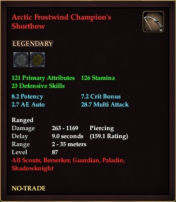 Arctic Frostwind Champion's Shortbow