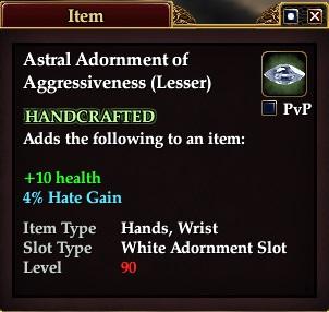 Astral Adornment of Aggressiveness (Lesser)