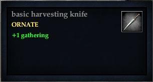 Basic harvesting knife