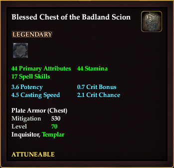 Blessed Chest of the Badland Scion (Level 70)