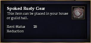 Spoked Rusty Gear