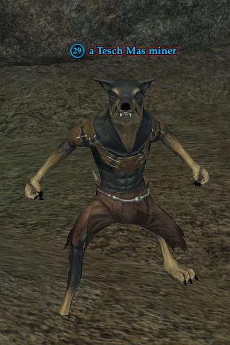 A Tesch Mas miner (Sundered Splitpaw: Hideout)
