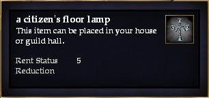 A citizen's floor lamp