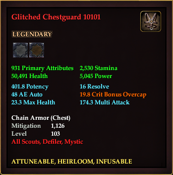 Glitched Chestguard 10101