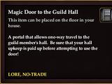 Magic Door to the Guild Hall