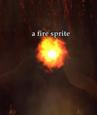 A fire sprite