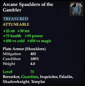 Arcane Spaulders of the Gambler