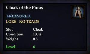 Cloak of the Pious (Version 1)