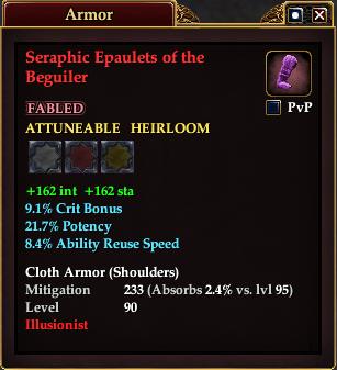 Seraphic Epaulets of the Beguiler