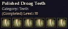 Polished Droag Teeth