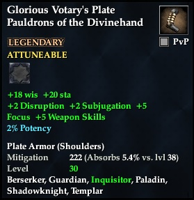 Glorious Votary's Plate Pauldrons of the Divinehand
