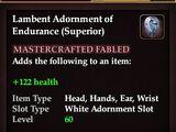 Lambent Adornment of Endurance (Superior)