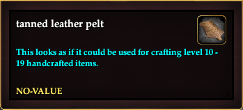 Tanned leather pelt (Crate Reward) (no-value)