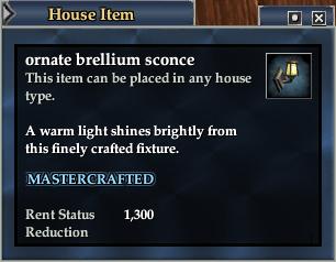 Ornate brellium sconce