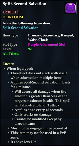 Split-Second Salvation (92, Heirloom, purple, Fabled) (Crate Reward)