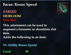 Focus: Reuse Speed (yellow)