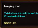 Hanging root