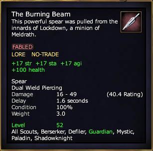 The Burning Beam (Level 52)