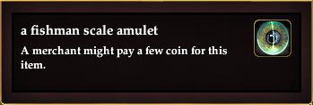 A fishman scale amulet