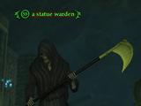 A statue warden