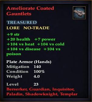 Ameliorate Coated Gauntlets