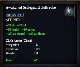 Awakened Scaleguard cloth robe