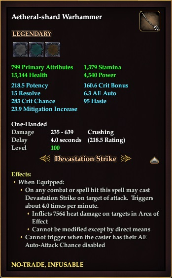Aether-shard Warhammer
