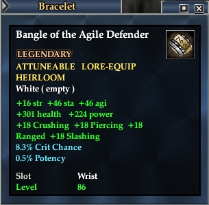 Bangle of the Agile Defender