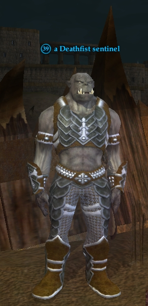 A Deathfist sentinel (Zek, the Orcish Wastes)